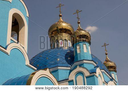 Detail of orthodoxy church - Sharhorod Ukraine Europe.