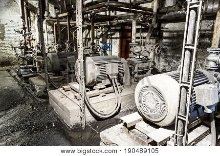 View on Engine room - power station Poland.