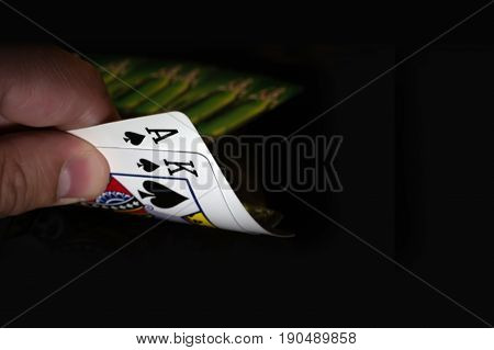 Two Cards King And Ace Of Spades