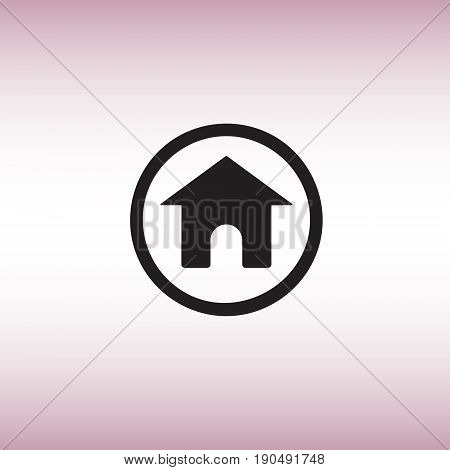 Home flat vector sign. Isolated homepage vector icon. Homepage button vector image.