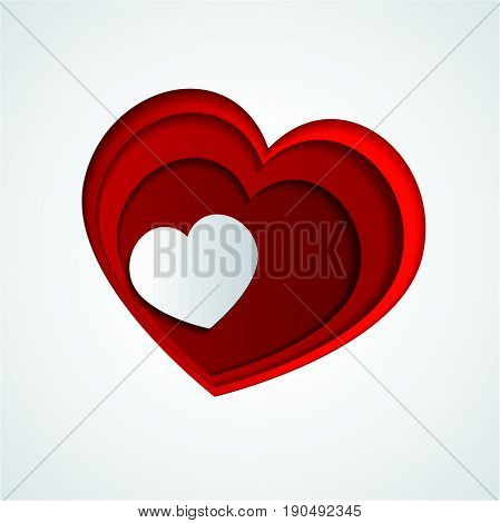 Love Heart . Red Heart . love Shape. Red Background . Red Texture. Valentine's Day.