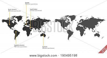 World map vector template vector illustration set