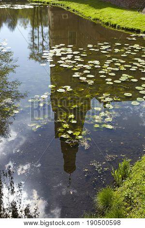 Moated Castle Raesfeld (germany) - Reflection