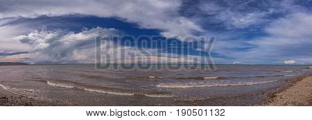 Breathtaking Scenery of Qinghai Lake, Qinghai province, China.
