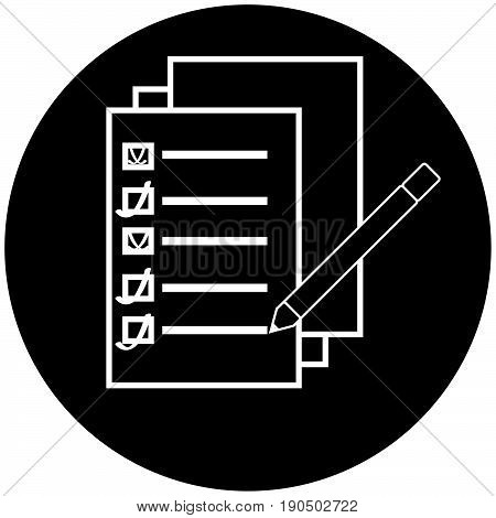 Documents icon isolated on white background. Vector illustration.