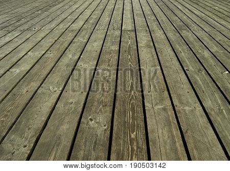 Old wooden planks background. Wooden table or floor.