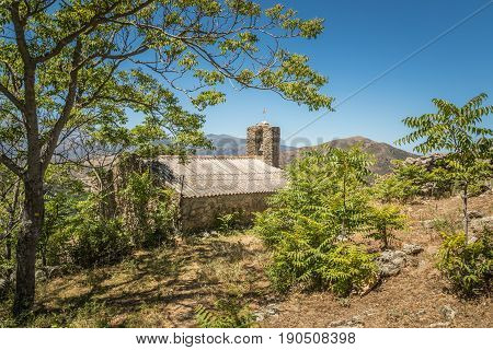 Old Chapel In Abandoned Village Of Casenove In Corsica
