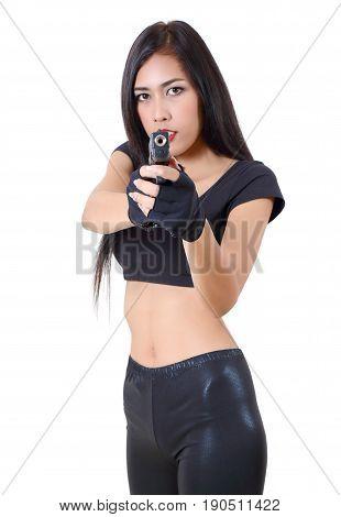 Woman And Gun