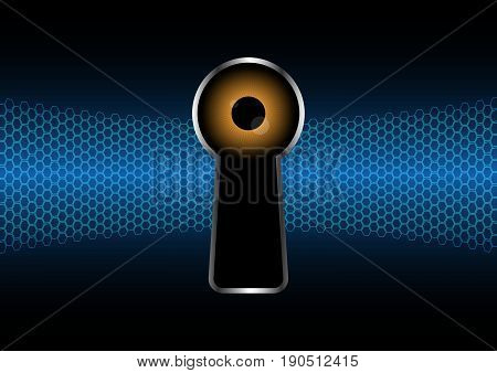 Technology Digital Future Abstract Cyber Security Keyhole Watching Eye Background