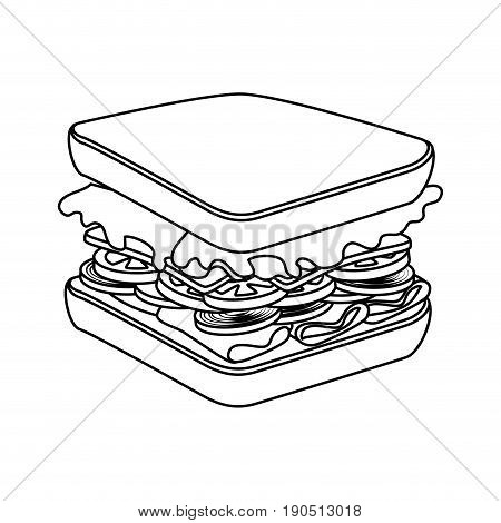 sandwich icon over white background vector illustration