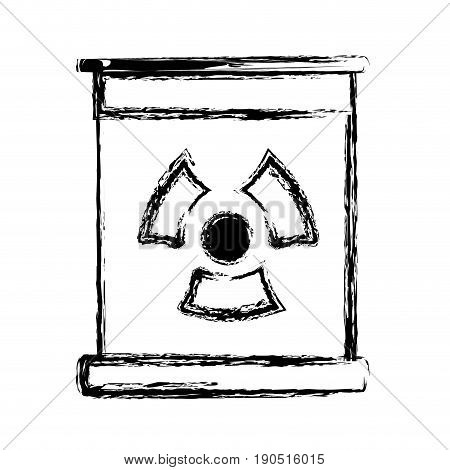 figure poster with radiation symbol of danger vector illustration
