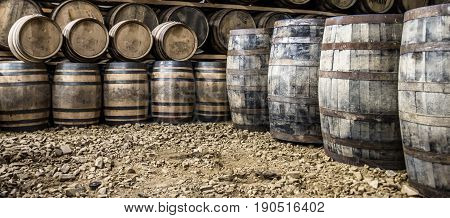 GLENBEG, ARDNAMURCHAN / SCOTLAND - MAY 26 2017 : Ardnamurchan distillery is producing whisky since 2014 and actually expanding their warehouses in Glenbeg