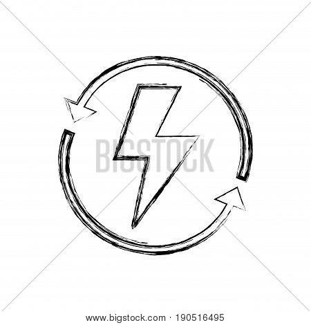 figure energy hazard symbol with arrows around vector illustration