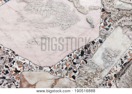 The Grunge Old White Marble Wall Background