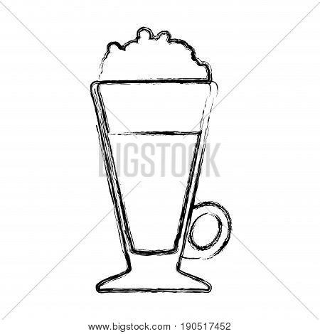Delicious cold coffee icon vector illustration graphic design