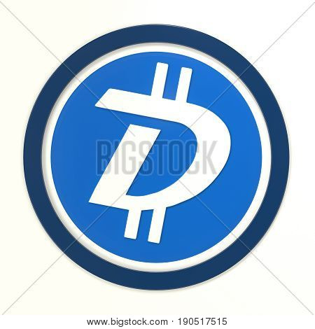 We accept DigiByte. 3D rendered DigiByte logo.