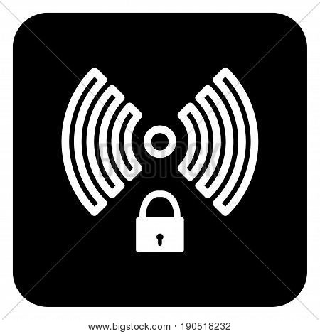 Badge of wireless network with private access.