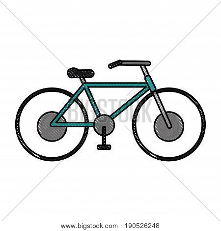 bycicle flat illustration icon vector design graphic scribble