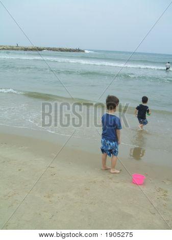 Children/Boys/Kids On The Beach