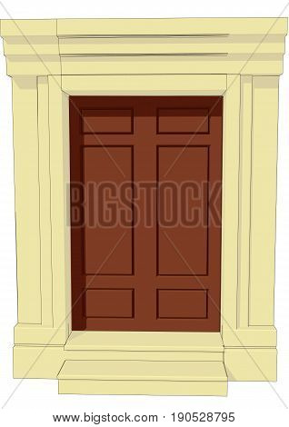 entrance to the house isolated on white