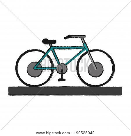 bycicle draw illustration icon vector design graphic