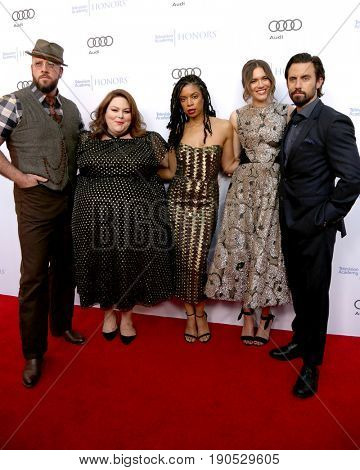 LOS ANGELES - JUN 8:  Chris Sullivan, Chrissy Metz, Susan Kelechi Watson, Mandy Moore, Milo Ventimiglia at the TV Academy Honors at the Montage Hotel on June 8, 2017 in Beverly Hills, CA
