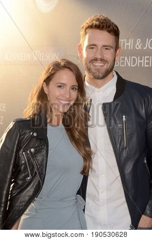 LOS ANGELES - JUN 8:  Vanessa Grimaldi, Nick Viall at the Los Angeles Dodgers Foundations 3rd Annual Blue Diamond Gala at the Dodger Stadium on June 8, 2017 in Los Angeles, CA