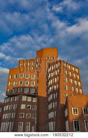 Gehry Buildings Of Dusseldorf Harbor