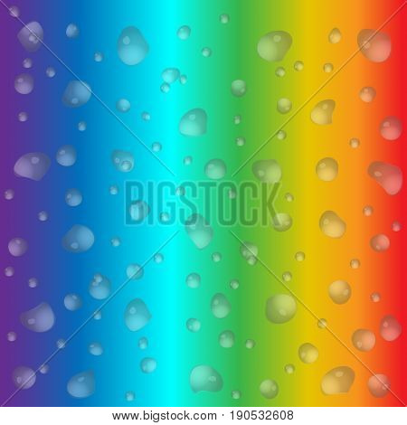 Realistic Water Drops On Colorful Background. Vector Illustration. Clean Drop Condensation Can Be Us