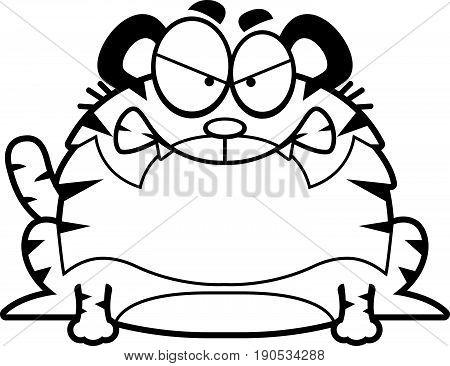 Angry Cartoon Tiger