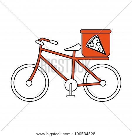 pizza bycicle flat illustration icon vector design graphic