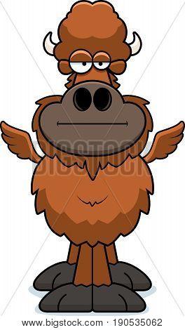 Cartoon Buffalo Wings Bored