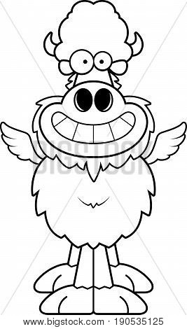 Happy Cartoon Buffalo Wings