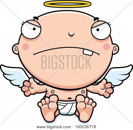 Cartoon Baby Angel Mad