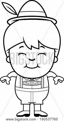 Smiling Cartoon Lederhosen Boy