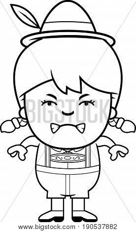 Angry Cartoon Lederhosen Girl
