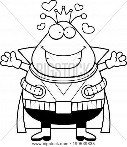 Cartoon Martian King Hug