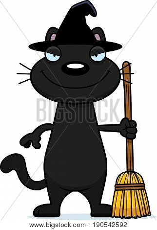 Sly Cartoon Black Cat Witch