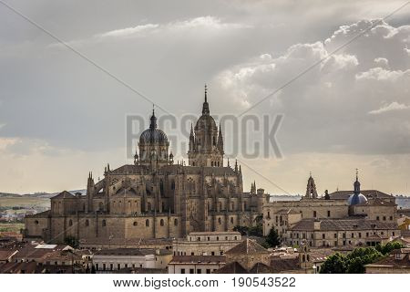 New Cathedral , one of the two cathedrals of Salamanca, Spain.The Old city of Salamanca is declared by UNESCO a World Heritage Site.