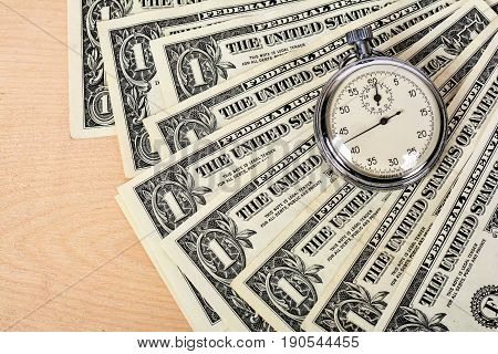 Time is money. World financial crisis, hard currency dollar