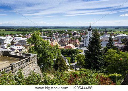 Javornik - Czech Republic - June 07, 2017: Summer View Of Javornik Town From Jansky Hill (jansky Vrc