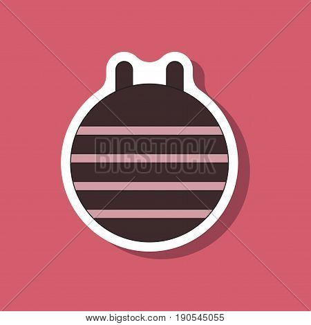 paper sticker on stylish background Fitball design