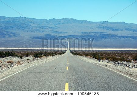Road in Death Valley National Park CaliforniaUSA