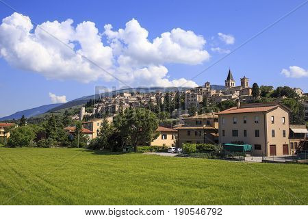 Spello. Beautiful medieval town in central Italy in Umbria