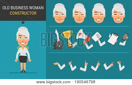 Constructor Character Old Business Woman
