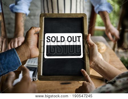 Sold out consumer commercial retail shop