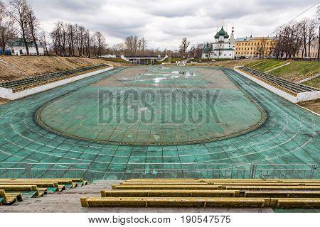 Abandoned Stadium In Yaroslavl, Russia