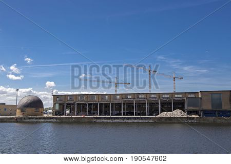 View of Ostend's old fishing mine, east  port