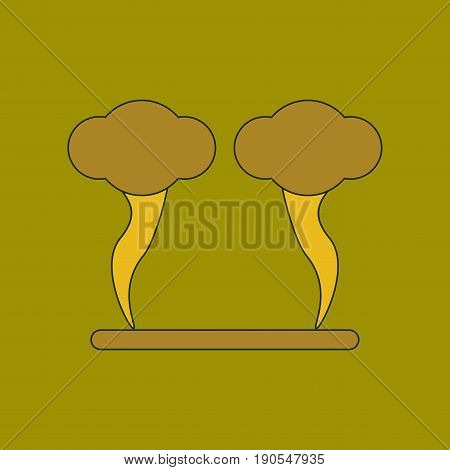 flat icon on stylish background natural disaster tornado