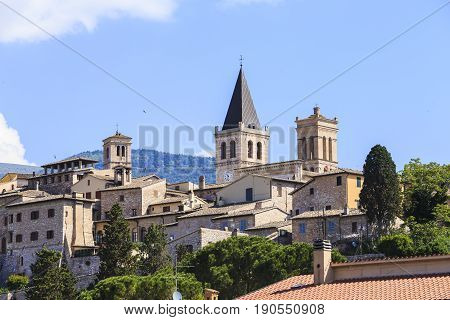 Beautiful medieval town in central Italy in Umbria